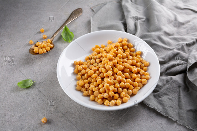 Large bowl of chickpeas
