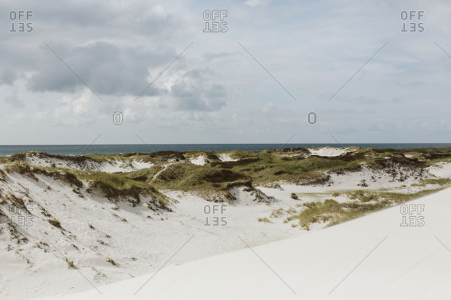 Sand dunes at sea