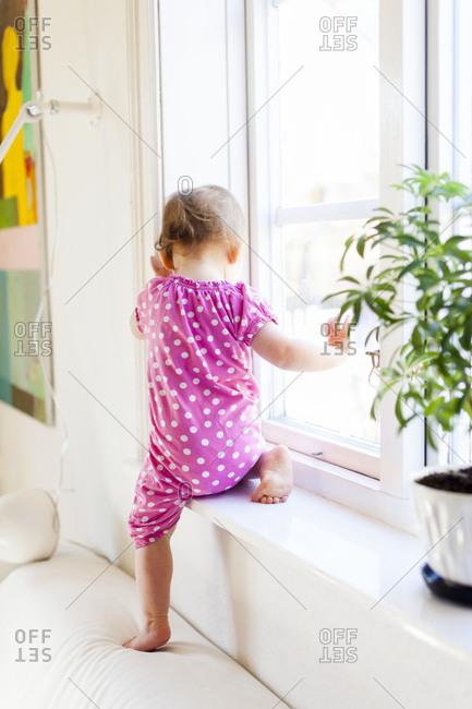 Small girl playing