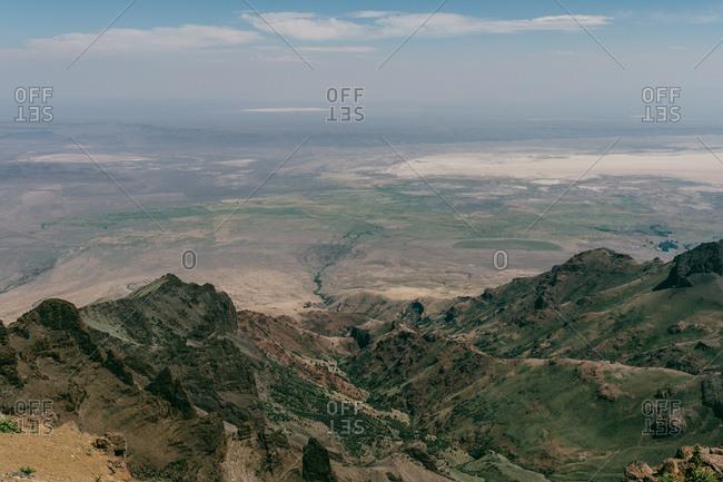 Scenic overlook of eastern Oregon desert