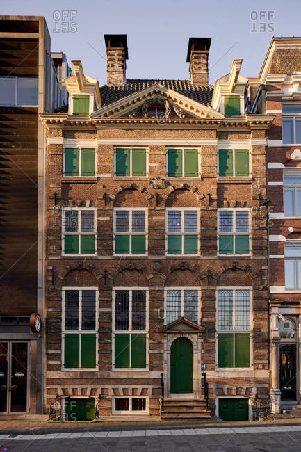 Amsterdam, Netherlands - February 27, 2019: The Rembrandt House in the city center