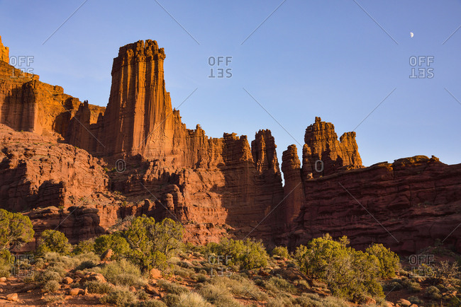 Fisher Towers in Utah, USA
