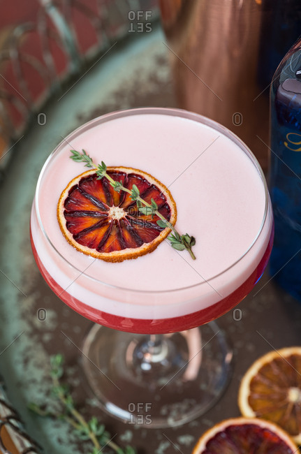 Blood Orange Gin Sour Cocktail