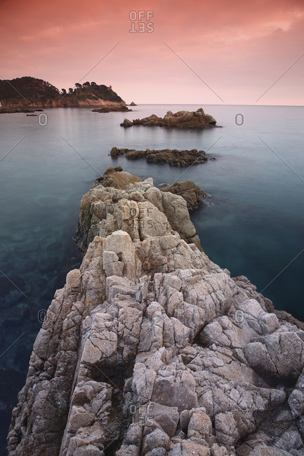 Spain- Cala S'Alguer- Costa Brava- sunset