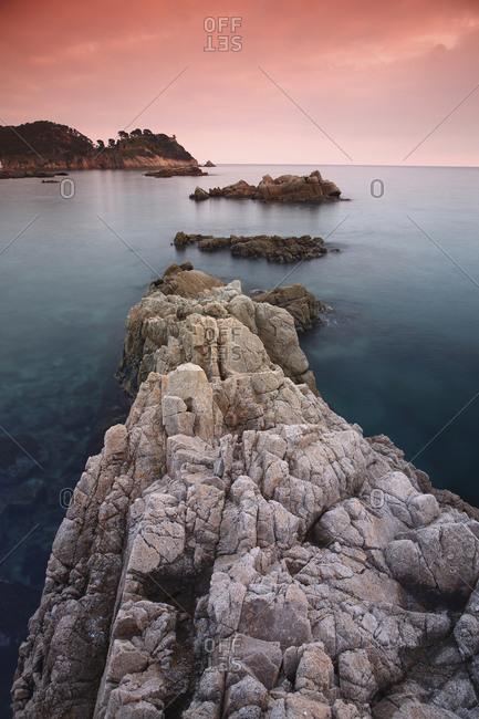 Spain- Cala S'Alguer- Costa Brava- sunset