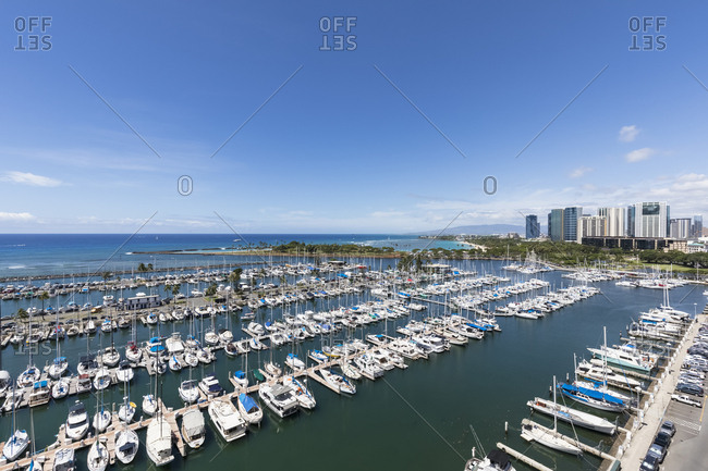 September 23, 2018: USA- Hawaii- Oahu- Honolulu- Ala Wai Boat Harbor