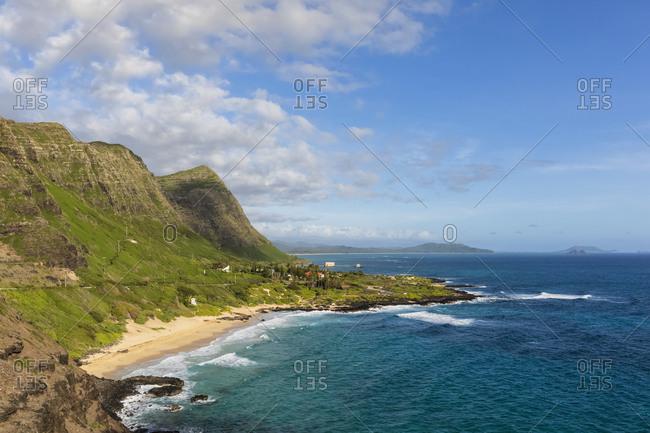 USA- Pacific Ocean- Hawaii- Oahu- View from Makapu Point- Makalu's Beach