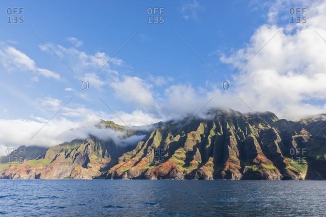 USA- Hawaii- Kauai- Na Pali Coast State Wilderness Park- Na Pali Coast