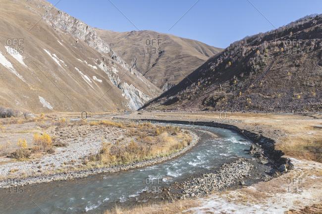 Georgia- Greater Caucasus- Truss Gorge with Trek River