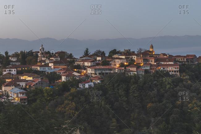 Georgia- Kakheti- Sighnaghi- townscape