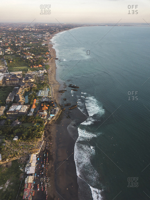 Indonesia- Bali- Aerial view of Echo Beach