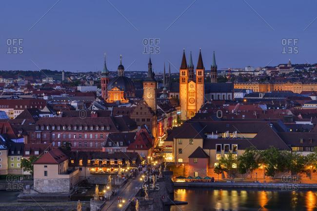 June 30, 2015: Germany- Bavaria- Franconia- Wurzburg- Historic old town