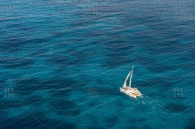 Caribbean- Antilles- Sint Maarten- sailing boat
