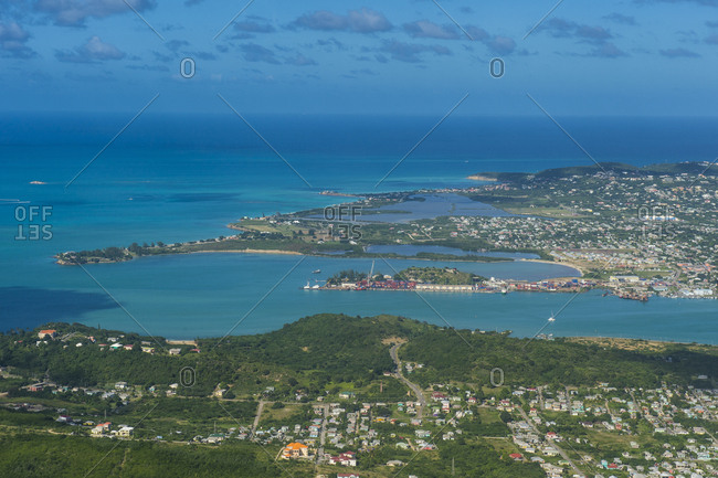 Caribbean- Antilles- Aerial view of Antigua