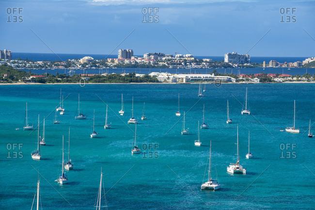 Caribbean- Antilles- Sint Maarten- Marigot- harbour- Oversea France