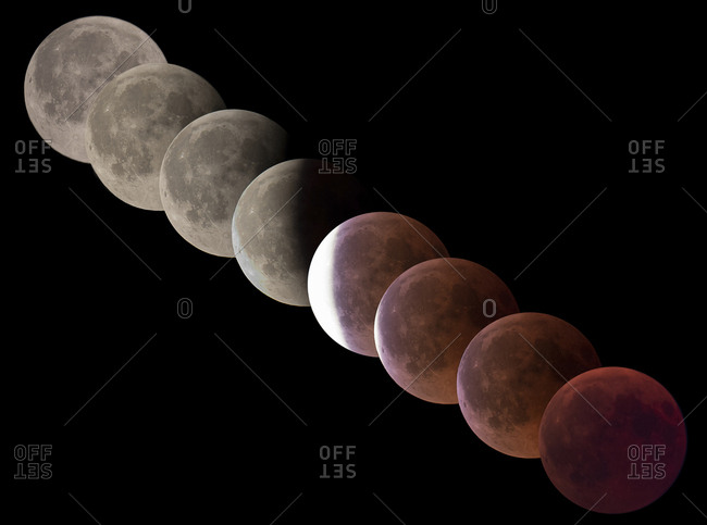Germany- composite sequence of total lunar eclipse