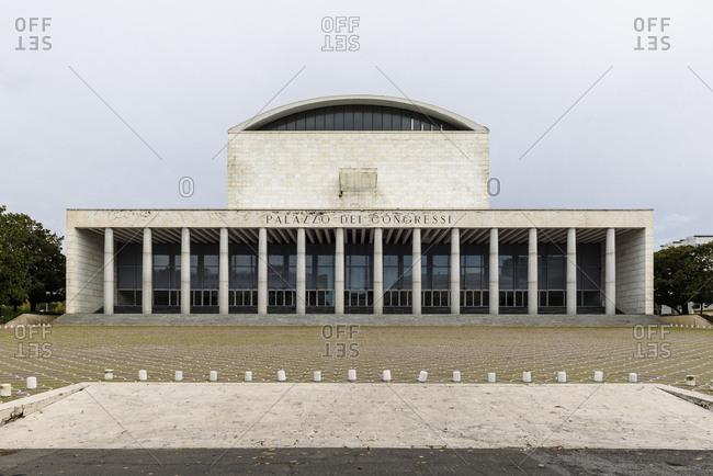 Rome, Italy - November 22, 2016: Front of convention center Palazzo dei Congressi