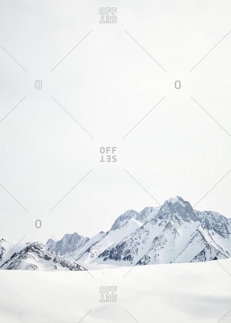 Snowy mountainscape