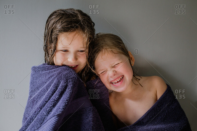 Girls laughing together