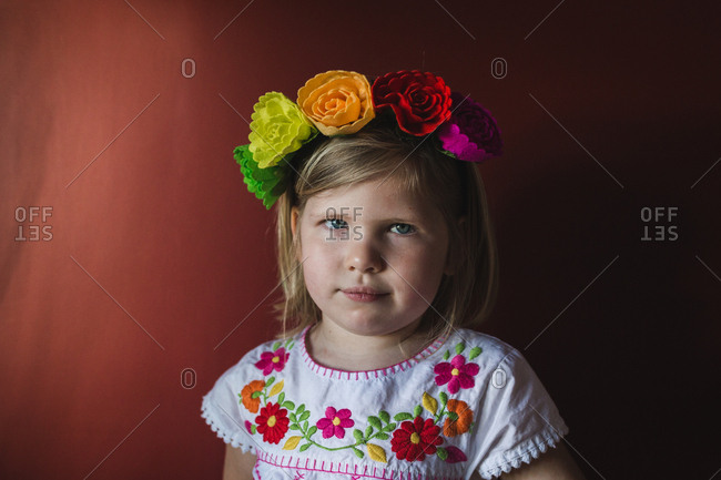 Little girl in a Mexican outfit