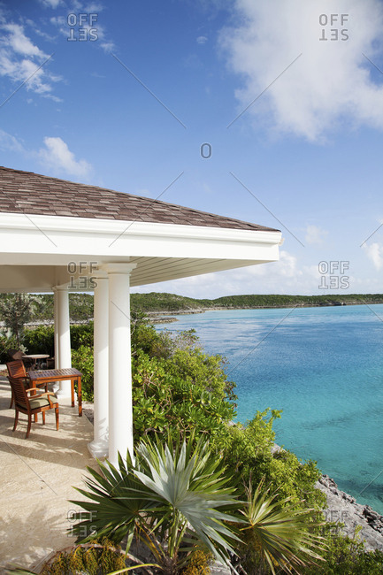 October 27, 2011: EXUMA, Bahamas. A view of the Birdcage Villa on the Fowl Cay Resort.