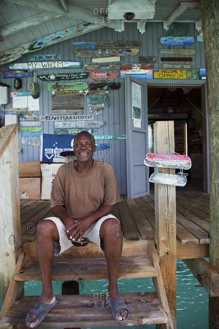 October 28, 2011: EXUMA, Bahamas. The Compass Cay Marina.
