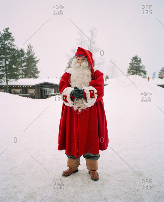 October 4, 2010: FINLAND, Rovaniemi, portrait of Santa Claus in the Santa Clause Village.
