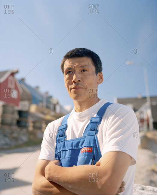 January 25, 2010: GREENLAND, Ilulissat, a portrait of a local fisherman
