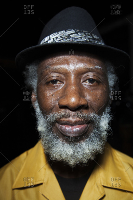 January 31, 2012: JAMAICA, Port Antonio. A member of The Jolly Boys before a show at the Bush Bar, Geejam Hotel.