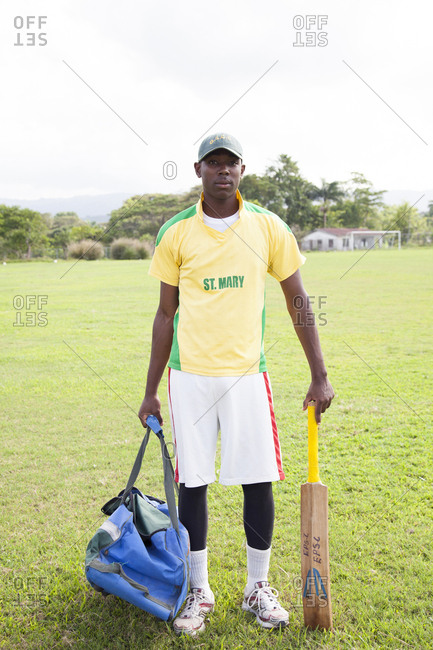 February 2, 2012: JAMAICA, Oracabessa. Portrait of Cricket Players at the Eden Park Sport Complex.