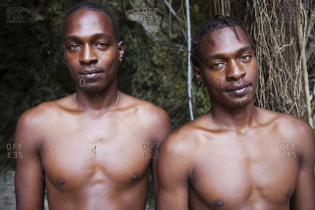 February 3, 2012: JAMAICA, Oracabessa. Goldeneye Hotel and Resort. Portrait of resort staff.