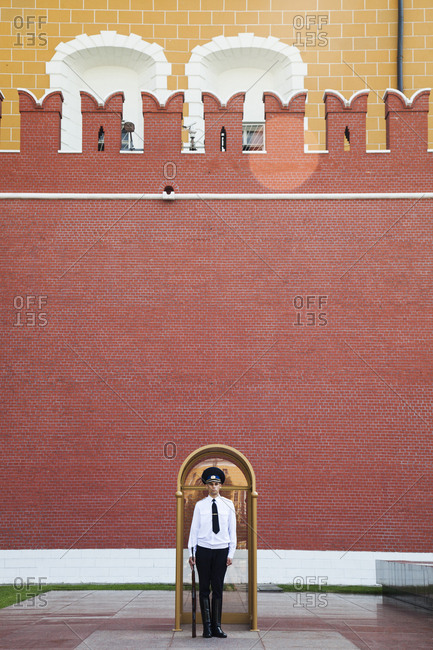 July 7, 2011: RUSSIA, Moscow. Tomb of the Unknown Soldier in the Red Square.