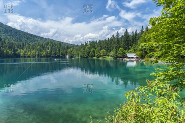 Italy, Friuli-Venezia Giulia, Udine district, Tarvisio, Alps, Julian Alps, Fusine lakes Inferiore