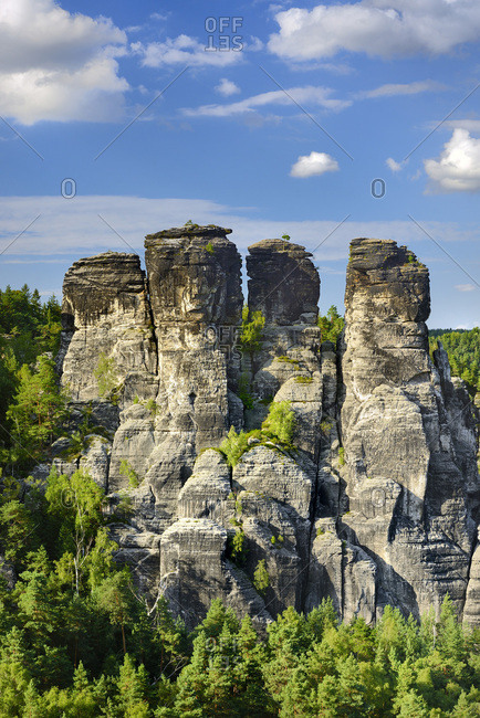 Germany, Saxony, Saxon Switzerland, Saxon-Switzerland National Park