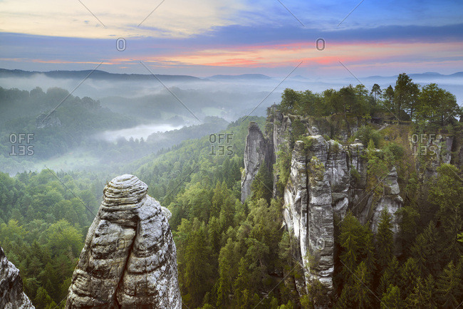 Germany, Saxony, Saxon Switzerland, Germany, Bavaria, Saxon-Switzerland National Park.