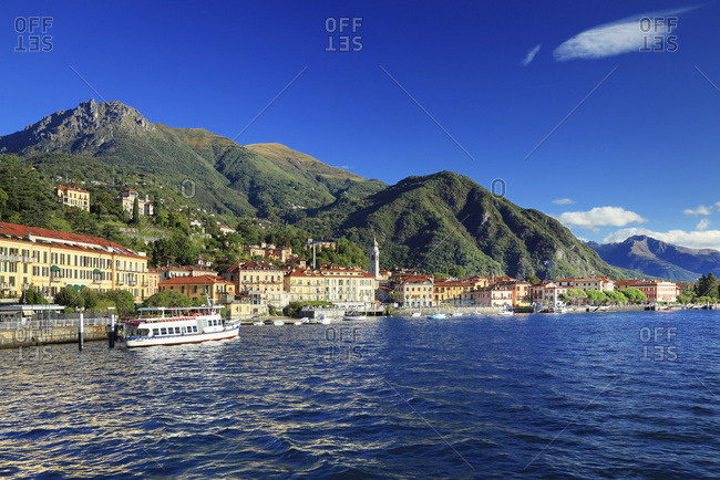 September 20, 2017: Italy, Lombardy, Como district, Como Lake, Menaggio, Alps, Italian lakes, The village and lake in summer