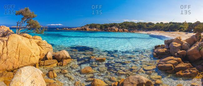 Italy, Sardinia, Olbia-Tempio district, Costa Smeralda, Arzachena, Mediterranean sea, Capriccioli beach