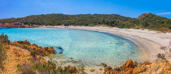 Italy, Sardinia, Olbia-Tempio district, Costa Smeralda, Arzachena, Mediterranean sea, Spiaggia del Principe beach (or Poltu li Cogghi)