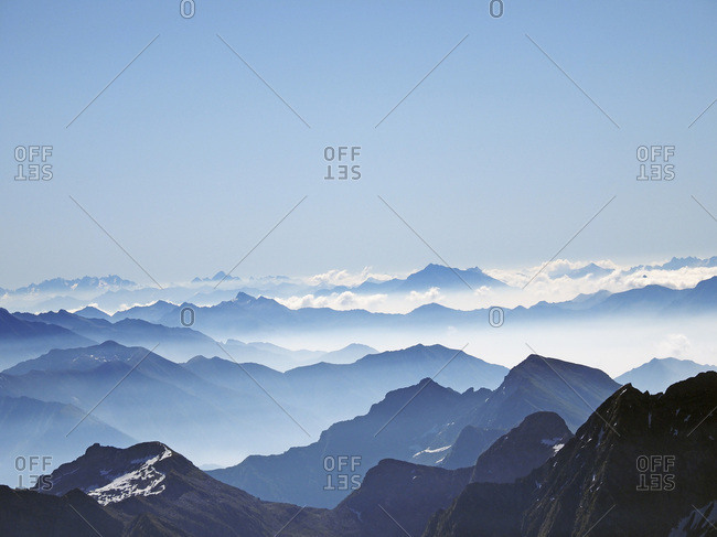 Switzerland, Ticino, Tessin, Alps, Aerial view of Maggia Valley