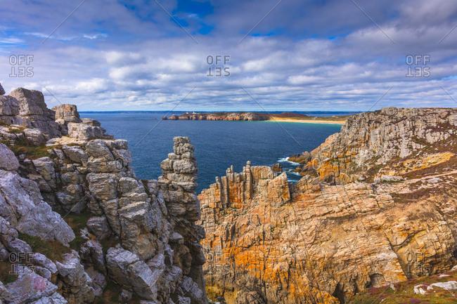 France, Brittany, Camaret-sur-Mer, Atlantic ocean, Pointe de Pen-Hir