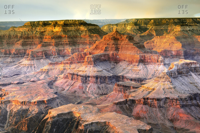 United States, Arizona, Grand Canyon National Park, Grand Canyon, View over the Grand Canyon, South Rim