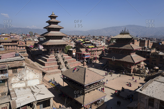 December 11, 2017: Nepal, Central, Bhaktapur, The old city of Bhaktapur