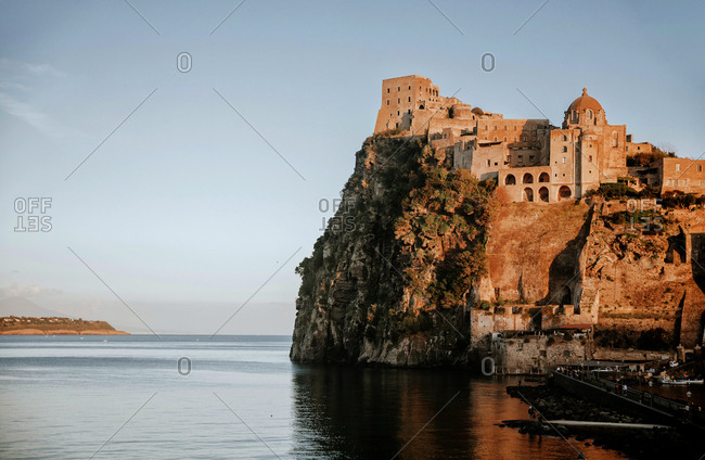Italy, Campania, Napoli district, Ischia Island, Ischia Ponte, Mediterranean sea, Tyrrhenian sea, Tyrrhenian coast, Aragonese castle