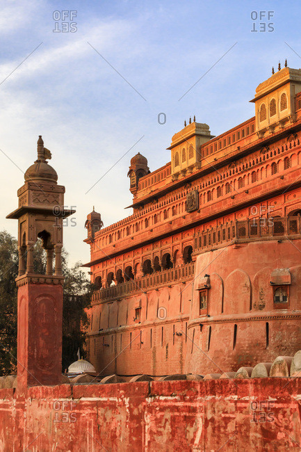 India, Rajasthan, Bikaner, Junagarh Fort in Bikaner at sunrise