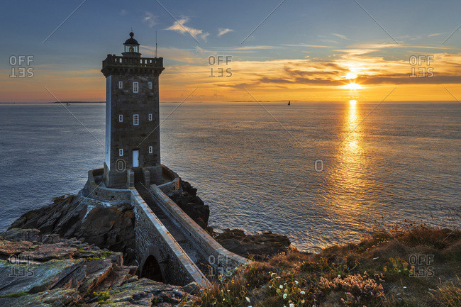 France, Brittany, Le Conquet, Kermorvan lighthouse