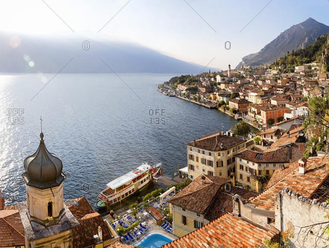 Italy, Lombardy, Brescia district, Lake Garda, Limone sul Garda, View of the village