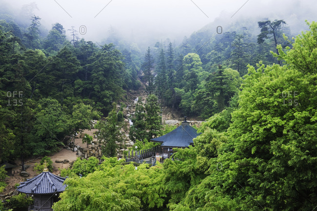Gardens at a Mountain Shinto Temple