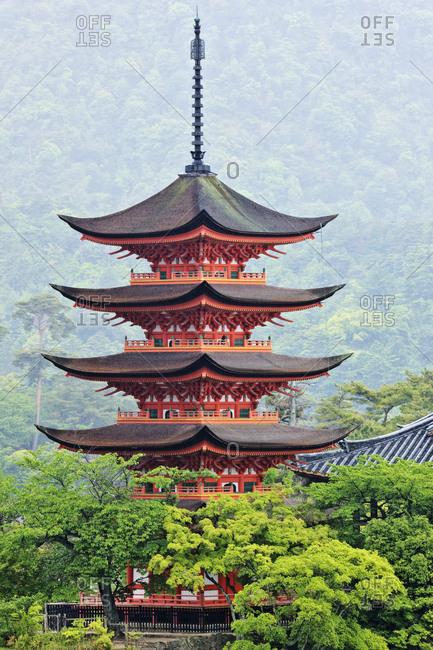 Pagoda, Honshu island, Japan, Asia