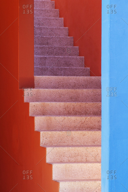 Colorful Stairwell