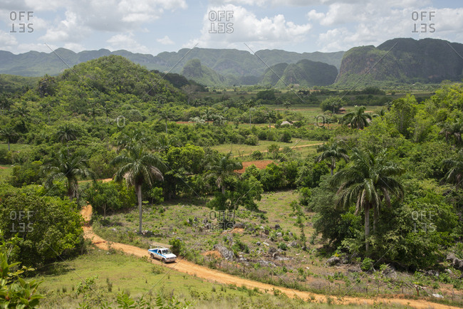 May 24, 2017: View of the beautiful valley of Vinales, Cuba